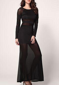 $35.99 | Sexy Shadow Stripe Maxi Dress