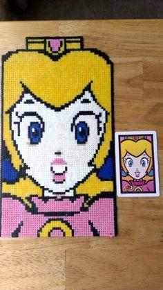 Princess Peach (Mini Hama Beads) by ericgant