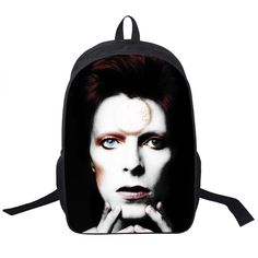 44.16$  Watch now - http://vidrn.justgood.pw/vig/item.php?t=1bzpv3l34192 - David Bowie Backpack Women Men Band The Beatles / Queen Backpacks For Teenagers