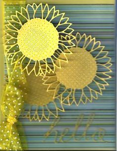 outside the box: Wild Sunflower Hello - used Memory Box Dies
