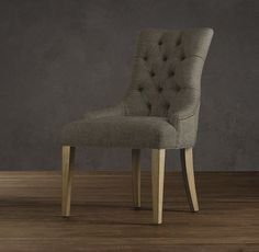 Martine Upholstered Armchair | Army Duck: Charcoal | Restoration Hardware