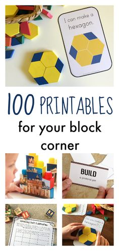 Add literacy, math, and building inspiration to your block play with these printables