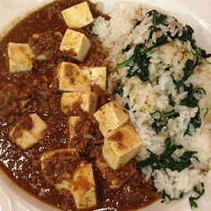 Chicken and Tofu curry.