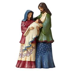 """The Reason"" Holy Family Figurine by Jim Shore for Enesco - from christianbook; Family Christmas Ornaments, Nativity Ornaments, Christmas Nativity Scene, Christmas Gift Decorations, Christmas Figurines, Nativity Sets, Jim Shore Christmas, Christmas Love, Christmas Things"