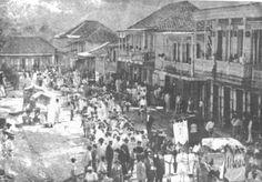 Procesión en el pueblo de San Sebastian de Pepino,Puerto Rico.