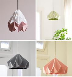 Origami lamp shades. Buy them in Pappelallee 63, 10437 Berlin