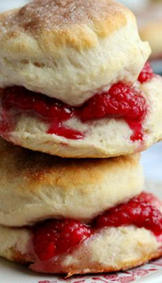 Raspberry Cinnamon Biscuits