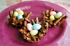 Vegan, gluten free, bird nest cookies are Easy to make and a fun Easter treat and can be made free of dairy, nuts, and gluten so they are the perfect Easter dessert that everyone can enjoy!