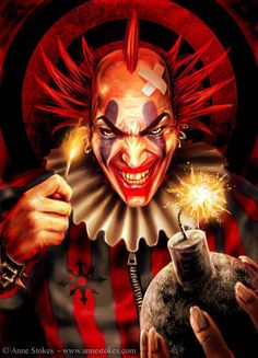 Evil Clown by Anne Stokes
