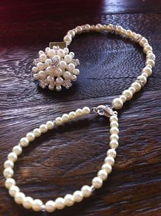 Ivory pearl pendant Baby Boutique 4-in-1 by OnlyPealsAndLace