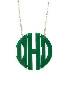 The newest addition to our Emerald Collection, the Acrylic Block Monogram Necklace by Moon & Lola. Available now at swellcaroline.com, starting at $58
