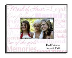 Maid of Honor Picture Frame Personalized