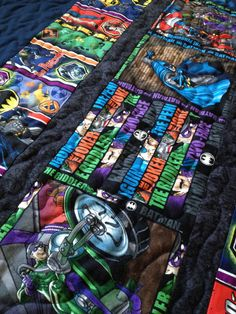 Handmade Batman Quilt  Battle for Gotham City DC by quiltyninja, $145.00