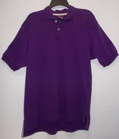 Roundtree & Yorke XL Short Sleeve Deep Purple Golf Polo Shirt - 100% Cotton #RoundtreeYorke #PoloRugby