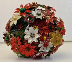 Items similar to Poinsettia Brooch Bouquet for the Holidays Christmas, poinsettias set into a vintage jewelry bouquet for display or a wedding on Etsy Vintage Christmas Wedding, Christmas Wedding Flowers, Vintage Travel Wedding, Bridal Brooch Bouquet, Brooch Bouquets, Boquet, Vintage Party Decorations, Outdoor Wedding Decorations, Vintage Ads Food