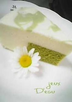 Great As A Gift Matcha Marbled Unbaked Cheesecake