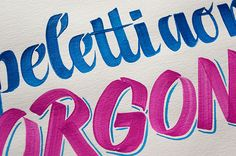 Polenghi – Calligraphy & Lettering