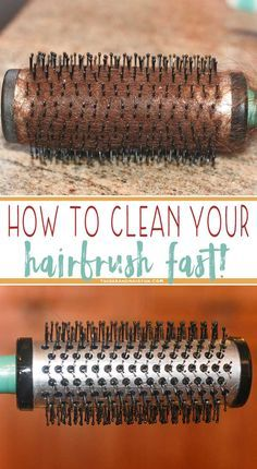 How to clean your brush in minutes and make it look brand new!