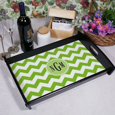 Personalized Monogram Madness Serving Tray