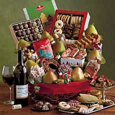 Christmas Celebration Gift Basket with Wine - 28654