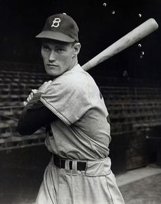 "Chuck Connors (""Rifleman""), Brooklyn Dodgers."