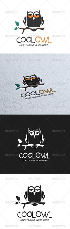 Cool Owl Logo  #GraphicRiver         Cool Owl logo   - AI and EPS file - CMYK mode - 100% vector and resizable - Easy to edit color and text   - Font used: Main font:  .dafont /prime-minister-of-canada.font Slogan:  .dafont /flux.font   Please rate if you like!     Created: 4October13 GraphicsFilesIncluded: VectorEPS #AIIllustrator Layered: Yes MinimumAdobeCSVersion: