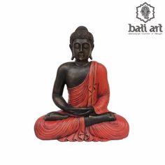 Estátua de Buda Bali sentado Vermelho 60cm - Decoração Bali
