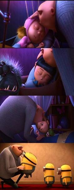 Despicable Me -- showing his soft side awwwwwwwwwwwwwwwwwwwwwwwwwwwwwwwwwwwwwwwwww!!!!!!!!!!!!!!