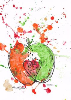 I Am Apple  by Mrs Wilkes  original painting+Free P&P