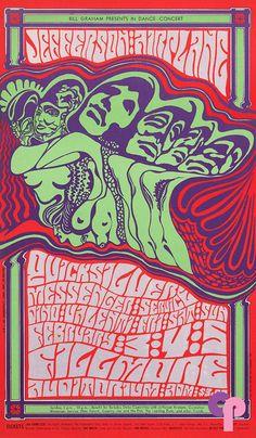 2/3-5 / 1967 ..... Fillmore ...  Jefferson Airplane .... Quicksilver Messenger Service ...  Dino Valenti ......  artist .... WES WILSON