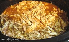 Slow cooker mexican shredded chicken recipe. Freezes great!