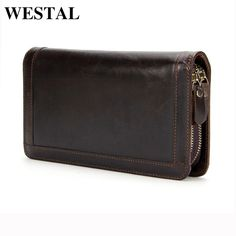 We love it and we know you also love it as well WESTAL Genuine Leather Men Wallets Double Zipper Male Wallet Men Purse Fashion Male Long Phone Wallet Man's Clutch Bags 9013 just only $19.20 with free shipping worldwide  #walletsformen Plese click on picture to see our special price for you
