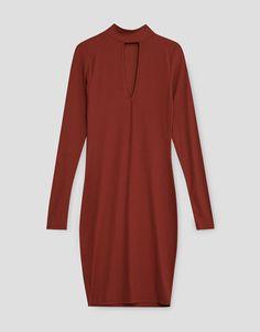 Vestido canalé escote lágrima 15,99 EUR | PULL&BEAR
