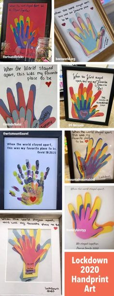 Handprint Art Discover Lockdown 2020 Handprint Keepsake Art Create a simple family handprint keepsake from the Lockdown of Use construction paper or painted hands. See examples. Toddler Art, Toddler Crafts, Crafts For Kids, Family Art Projects, Family Crafts, Kid Projects, Family Hand Prints, Bebe 1 An, Keepsake Crafts