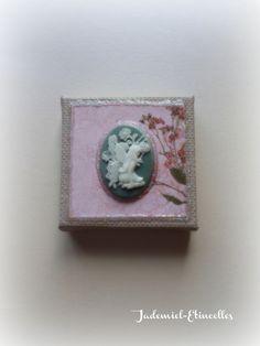 """Mini toile décorative série """" Songes de fleurs """" n°22 : Accessoires de maison par jademiel-etincelles"""