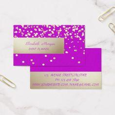 Elegant Professional ModernConfetti Business Card - elegant gifts gift ideas custom presents Professional Gifts, Professional Business Cards, Purple Wallpaper Iphone, Wedding Confetti, Wedding Cards, Wedding Gifts, Pink Gifts, Office Gifts, Party Gifts