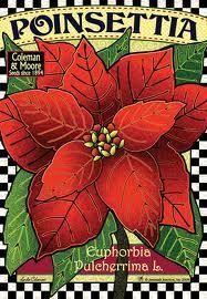 poinsettia - I love old-fashioned Christmas art!
