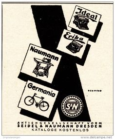 Original-Werbung/ Anzeige 1924 - SCHREIBMASCHINEN/ NÄHMASCHINEN/ FAHRRÄDER…