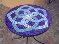 Mosaic table Blues two seater