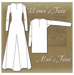 Viking Tunic, Viking Garb, Viking Dress, Viking Pattern, Medieval Pattern, Tunic Pattern, Viking Clothing, Historical Clothing, Historical Photos