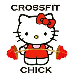 take away the crossfit word! and the chick too. i just love shes holding a barbell!!!