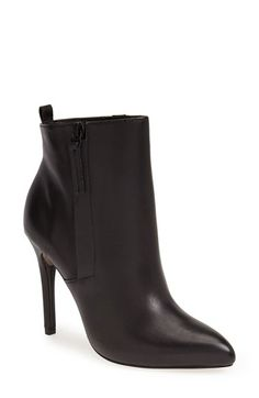 Pour la Victoire Zane bootie, $295 at Nordstrom. Sharp, high, and what you'd expect Emmanuelle Alt to wear with her skinny jeans.