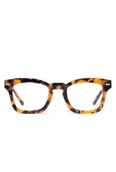 Human Skull Tortoiseshell Glasses