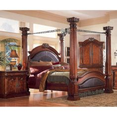 four poster king bed | Queen 4 Poster Bed3218A-10 - Home Furniture | City Liquidators ...