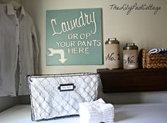 Laundry Room Sign by