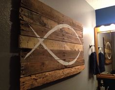 """ICHTHYS / Jesus Fish 40"""" x 25.5"""" by WoodburyCreek on Etsy"""