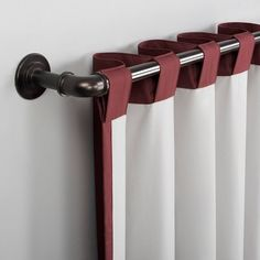 Cyrus Thermal Total Blackout Back Tab Curtain Panel Red - Sun Zero Rv Curtains, Curtain Fabric, Panel Curtains, Pipe Curtain Rods, Dyi Decorations, Unusual Furniture, Red Sun, Entertainment Room, Diy Organization