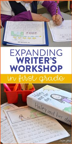 How do you teach writer's workshop in your first grade classroom? This post explains how to get your writers to expand their learning through fun activities and lessons that even have them writing chapter books by the end! So many great ideas!