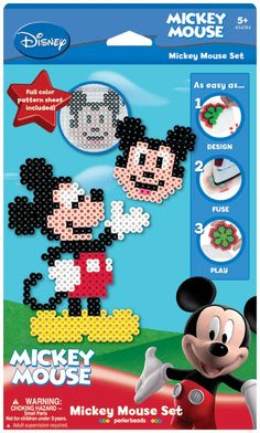 Mickey Perler Disney Fuse Bead Activity Kit 545-54584 - Kids Craft