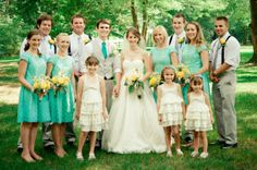 Robin's egg blue, yellow, and white make up this southern summer wedding color palette | Betty Donne Photography